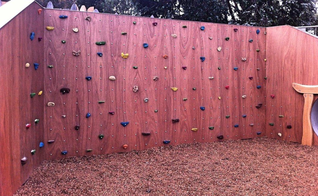 Timber climbing wall